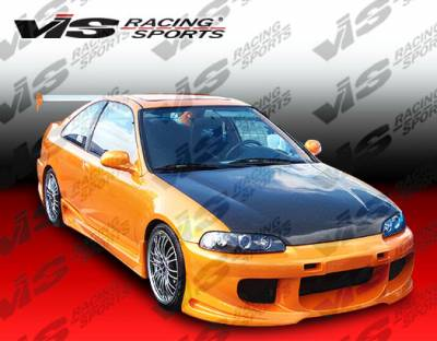 Civic 2Dr - Side Skirts - VIS Racing - Honda Civic 2DR VIS Racing Ballistix Side Skirts - 92HDCVC2DBX-004