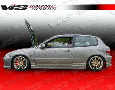 Civic HB - Side Skirts - VIS Racing - Honda Civic HB VIS Racing Tracer Side Skirts - 92HDCVC2DTRA-004