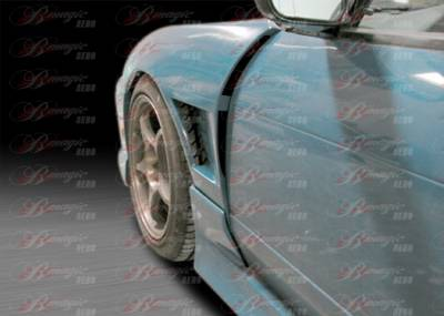 240SX - Fenders - AIT Racing - Nissan 240SX AIT Racing D2 Style Wide Front Fenders - N24089BMD2SFF