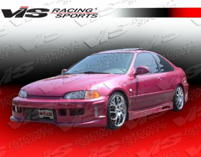 Civic 4Dr - Side Skirts - VIS Racing - Honda Civic 4DR VIS Racing Z1 boxer Side Skirts - 92HDCVC4DZ1-004