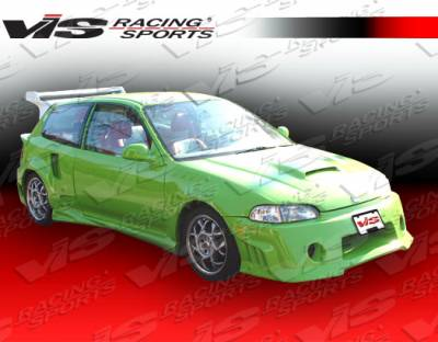 Civic HB - Side Skirts - VIS Racing - Honda Civic HB VIS Racing Kombat Side Skirts - 92HDCVCHBKOM-004