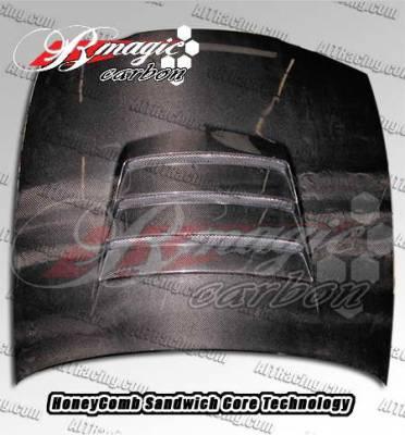 240SX - Hoods - AIT Racing - Nissan 240SX AIT Racing Battle Style Carbon Fiber Hood - N24095BMBTLCFH