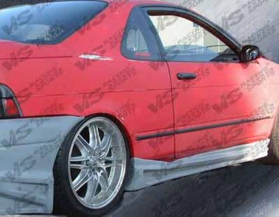 Paseo - Side Skirts - VIS Racing - Toyota Paseo VIS Racing Ballistix Side Skirts - 92TYPAS2DBX-004
