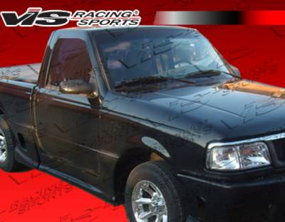 Ranger - Side Skirts - VIS Racing - Ford Ranger VIS Racing Striker Side Skirts - 93FDRAN2DSTR-004