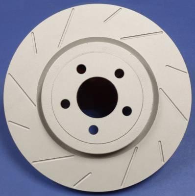 Brakes - Brake Rotors - SP Performance - Subaru Impreza SP Performance Slotted Solid Rear Rotors - T47-1554