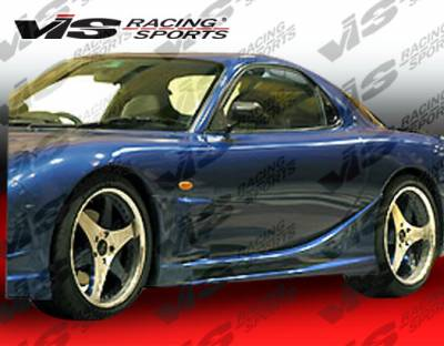 RX7 - Side Skirts - VIS Racing - Mazda RX-7 VIS Racing Alfa Side Skirts - 93MZRX72DALF-004