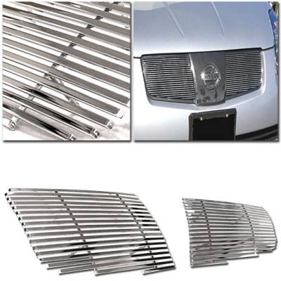 Grilles - Custom Fit Grilles - Custom - CHROME BILLET GRILLE - 2 pieces