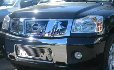 Grilles - Custom Fit Grilles - APS - Nissan Titan APS Symbolic Grille - N25412B