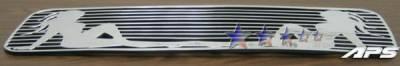 Grilles - Custom Fit Grilles - APS - Nissan Titan APS Symbolic Grille - Bumper - Aluminum - N25413B