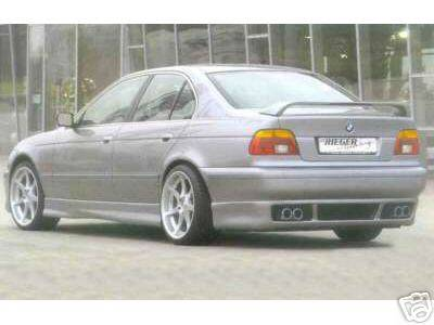 5 Series - Rear Lip - Custom - Rieger GTM E39 Rear Apron - ABS Plastic