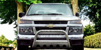 Grilles - Grille Guard - Black Horse - GMC Canyon Black Horse Bull Bar Guard with Skid Plate