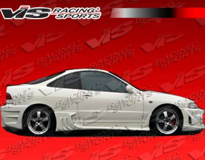 Integra 2Dr - Side Skirts - VIS Racing - Acura Integra VIS Racing Wave Side Skirts - 94ACINT2DWAV-004