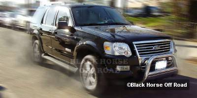 Grilles - Grille Guard - Black Horse - Ford Explorer Black Horse Bull Bar Guard with Skid Plate