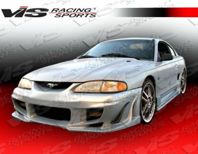 Mustang - Side Skirts - VIS Racing - Ford Mustang VIS Racing Ballistix Side Skirts - 94FDMUS2DBX-004