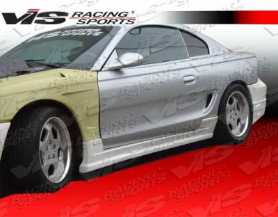 Mustang - Side Skirts - VIS Racing - Ford Mustang VIS Racing Battle Z Side Skirts - 94FDMUS2DBZ-004