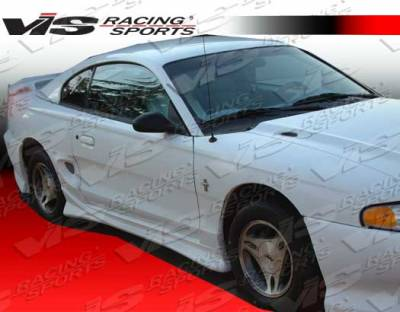 Mustang - Side Skirts - VIS Racing - Ford Mustang VIS Racing Invader Side Skirts - 94FDMUS2DINV-004