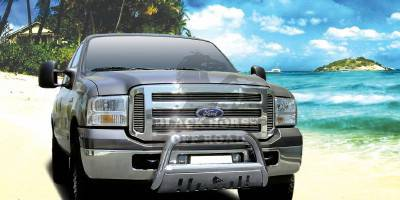 Grilles - Grille Guard - Black Horse - Ford F450 Black Horse Bull Bar Guard with Skid Plate