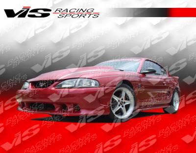 Mustang - Side Skirts - VIS Racing - Ford Mustang VIS Racing Stalker Side Skirts - Urethane - 94FDMUS2DSTK-004P
