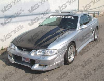 Mustang - Side Skirts - VIS Racing - Ford Mustang VIS Racing Viper Side Skirts - 94FDMUS2DVR-004