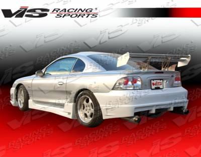Mustang - Side Skirts - VIS Racing - Ford Mustang VIS Racing Wings Side Skirts - 94FDMUS2DWIN-004