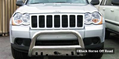 Grilles - Grille Guard - Black Horse - Jeep Grand Cherokee Black Horse Bull Bar Guard with Skid Plate