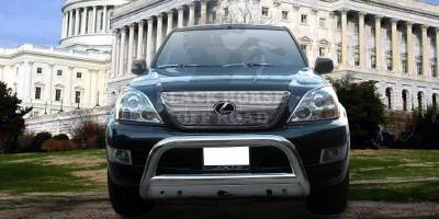 Grilles - Grille Guard - Black Horse - Lexus GX Black Horse Bull Bar Guard with Skid Plate