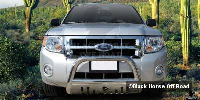 Grilles - Grille Guard - Black Horse - Mercury Mariner Black Horse Bull Bar Guard with Skid Plate