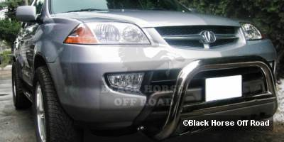 Grilles - Grille Guard - Black Horse - Acura MDX Black Horse Bull Bar Guard with Skid Plate
