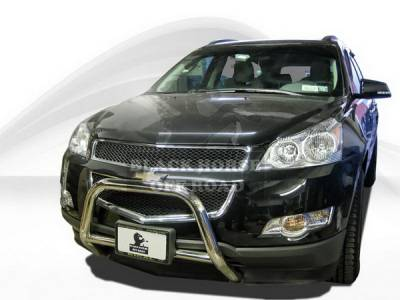 Grilles - Grille Guard - Black Horse - Saturn Outlook Black Horse Bull Bar Guard without Skid Plate