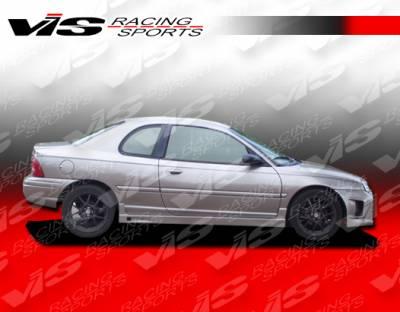 Neon 2Dr - Side Skirts - VIS Racing - Dodge Neon 2DR VIS Racing Kombat Side Skirts - 95DGNEO2DKOM-004