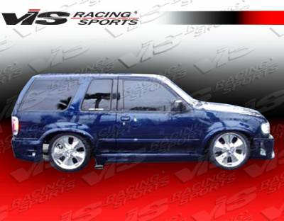 Explorer - Side Skirts - VIS Racing - Ford Explorer VIS Racing Outcast Side Skirts - 95FDEPR4DOC-004