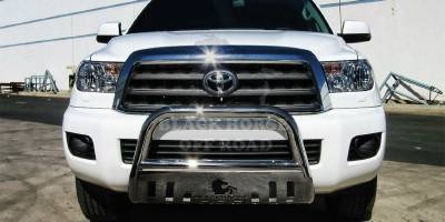 Grilles - Grille Guard - Black Horse - Toyota Tundra Black Horse Bull Bar Guard with Skid Plate