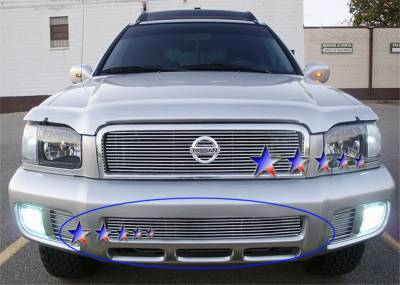 Grilles - Custom Fit Grilles - APS - Nissan Pathfinder APS Billet Grille - Bumper - Aluminum - N65360A