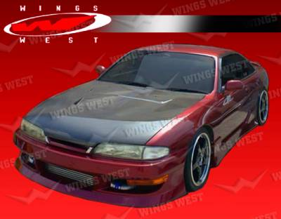 240SX - Side Skirts - VIS Racing - Nissan 240SX VIS Racing JPC Type 1 Side Skirts - 95NS2402DJPC1-004