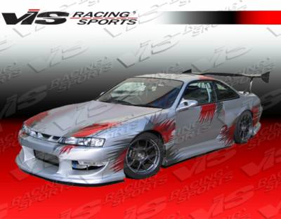 240SX - Side Skirts - VIS Racing - Nissan 240SX VIS Racing Werk 9 Side Skirts - 95NS2402DWK9-004