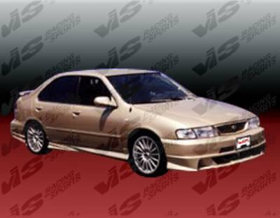Sentra - Side Skirts - VIS Racing - Nissan Sentra VIS Racing Xtreme Side Skirts - 95NSSEN4DEX-004