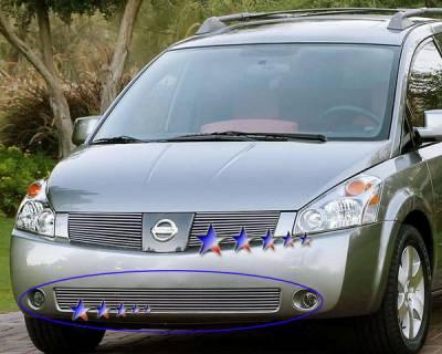 Grilles - Custom Fit Grilles - APS - Nissan Quest APS Billet Grille - Bumper - Aluminum - N65432A