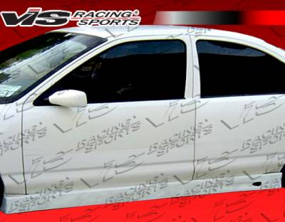 Sunfire - Side Skirts - VIS Racing - Pontiac Sunfire VIS Racing Ballistix Side Skirts - 95PTSUN4DBX-004