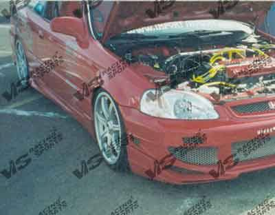 Civic 2Dr - Side Skirts - VIS Racing - Honda Civic 2DR & HB VIS Racing AVG Side Skirts - 96HDCVC2DAVG-004
