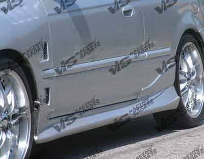 Civic 2Dr - Side Skirts - VIS Racing - Honda Civic 2DR & HB VIS Racing Invader-6 Side Skirts - 96HDCVC2DINV6-004