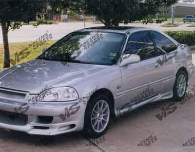 Civic 2Dr - Side Skirts - VIS Racing - Honda Civic 2DR & HB VIS Racing Kombat Side Skirts - 96HDCVC2DKOM-004