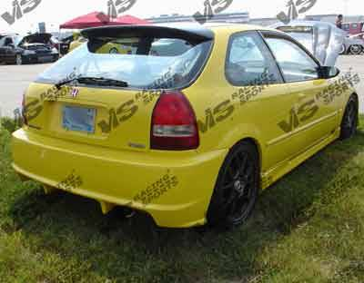 Civic 2Dr - Side Skirts - VIS Racing - Honda Civic 2DR & HB VIS Racing Tracer Side Skirts - 96HDCVC2DTRA-004