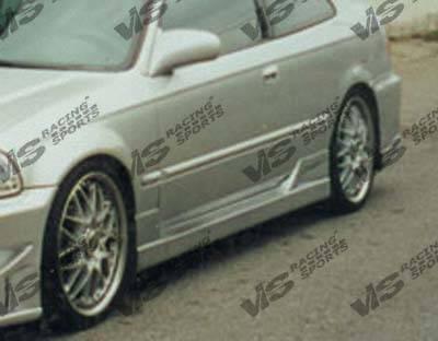 Civic 2Dr - Side Skirts - VIS Racing - Honda Civic 2DR & HB VIS Racing TSC Side Skirts - 96HDCVC2DTSC-004