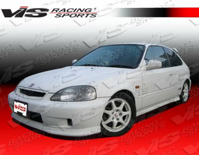Civic 2Dr - Side Skirts - VIS Racing. - Honda Civic 2DR & HB VIS Racing Type R Side Skirts - 96HDCVC2DTYR-004