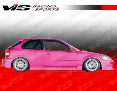 Civic 2Dr - Side Skirts - VIS Racing - Honda Civic 2DR & HB VIS Racing Walker Side Skirts - 96HDCVC2DWAL-004