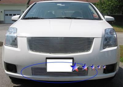 Grilles - Custom Fit Grilles - APS - Nissan Sentra APS Billet Grille - Bumper - Aluminum - N66498A