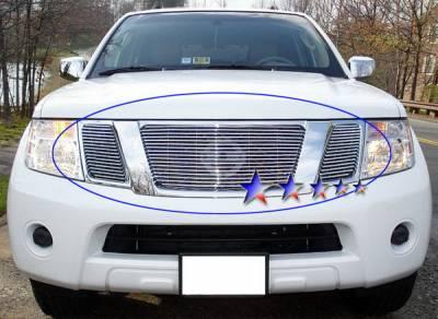 Grilles - Custom Fit Grilles - APS - Nissan Pathfinder APS Billet Grille - Upper - Aluminum - N66523A