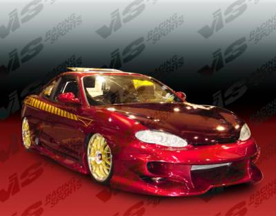 Tiburon - Side Skirts - VIS Racing - Hyundai Tiburon VIS Racing Invader-2 Side Skirts - 97HYTIB2DINV2-004