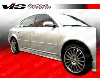 A6 - Side Skirts - VIS Racing - Audi A6 VIS Racing A-Tech Side Skirts - 98AUA64DATH-004