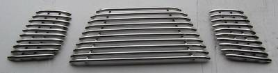 Grilles - Custom Fit Grilles - APS - Nissan Frontier APS Tubular Grille - Upper - Stainless Steel - N68432S